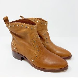 Dolce Vita Tobin Studded Bootie Brown Leather